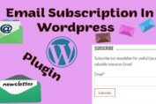 How To Add Email Subscription To WordPress in Hindi