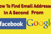How To Find Email Addresses From Google and Facebook