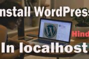 How to install wordpress in localhost xampp hindi