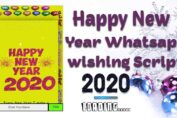 Happy New Year 2020 Whatsapp wishing Script for Blogger