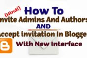 How To Invite Admins And Authors In Blogger