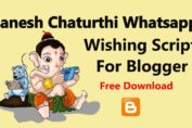 Happy Ganesh Chaturthi Whatsapp Wishing Script For Blogger 2020 | Free Download