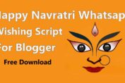 Happy Navratri Whatsapp Wishing Script For Blogger Free Download
