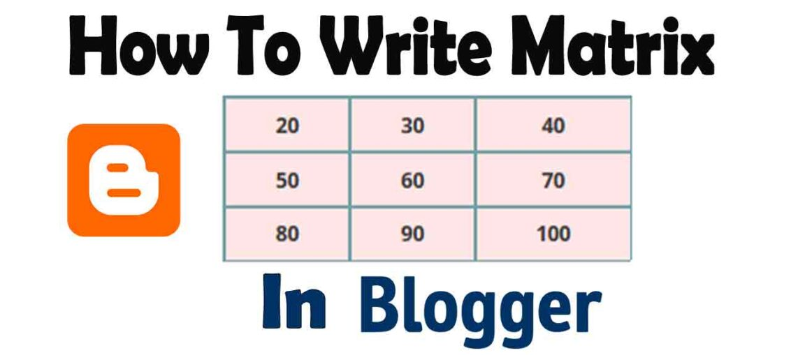 How To Write Matrix In Blogger With Responsive Web Design