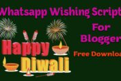 Happy Diwali Whatsapp Wishing Script For Blogger