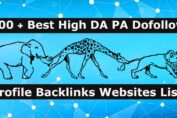 Best High DA PA Dofollow Profile Backlinks Creation Websites List