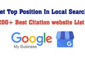Best Citation website List | Get Top Position In Local Search | Local SEO
