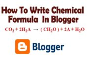 How To Write Chemical Formula In Blogger