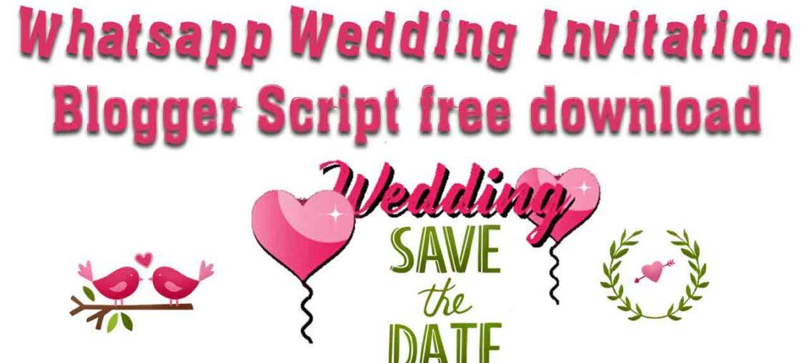 Whatsapp Wedding Invitation Script